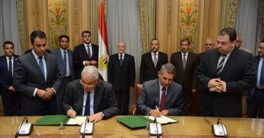 """""""العصار"""" يشهد توقيع بروتوكول تعاون بين """"الإنتاج الحربي"""" و نقابة المحامين"""
