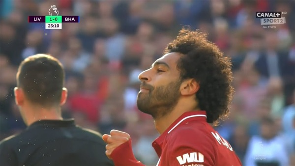 محمد صلاح يسجل هدف ليفربول الأول أمام برايتون