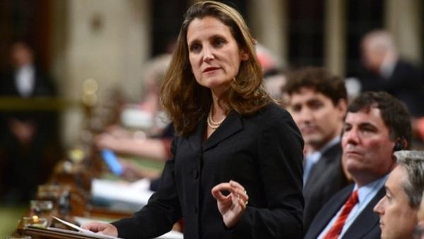 وزيرة خارجية كندا تحرض ألمانيا على دعم حملتها ضد السعودية