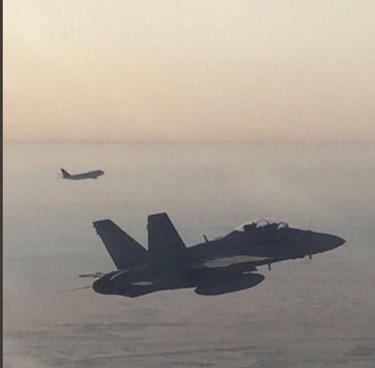 مقاتلات «أف 18» تستقبل الأمير محمد بن سلمان في سماء الكويت