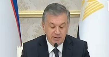 الرئيس الأوزبكى: ناقشت مع السيسى قضايا محاربة الإرهاب الدولى