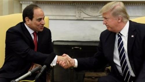 ترامب يشيد بنجاح السيسي في قيادة مصر