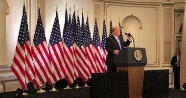 وصول الرئيس الأمريكى دونالد ترامب فندق بالاس بلازا لعقد مؤتمر صحفى