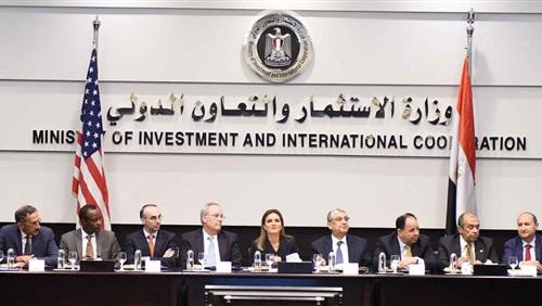 سحر نصر تعقد لقاء استثماري مع نحو 40 شركة أمريكية مستثمرة في مصر