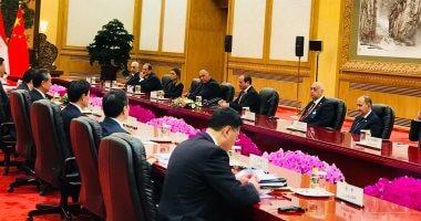 السيسى يشيد بدعم الصين للتنمية بمصر خاصة فى العاصمة الإدارية الجديدة