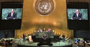 السيسى: مصر سابع أكبر المساهمين فى قوات الأمم المتحدة لحفظ السلام