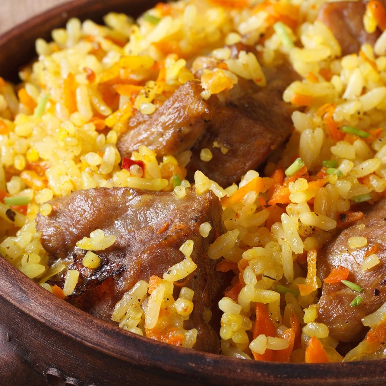 طريقة عمل الأرز بالجزر والقرفة مع اللحم