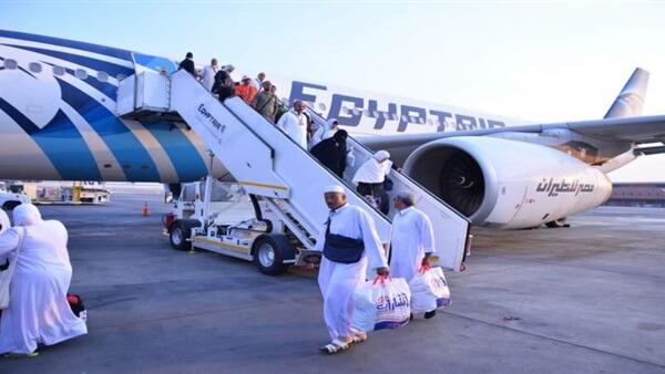"""""""مصر للطيران"""" تسير 3 رحلات لعودة 719 حاجا فلسطينيا لمطار القاهرة"""