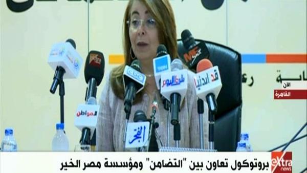 غادة والي: برنامج تكافل وكرامة يضم 24 ونصف مليون مواطن مصري