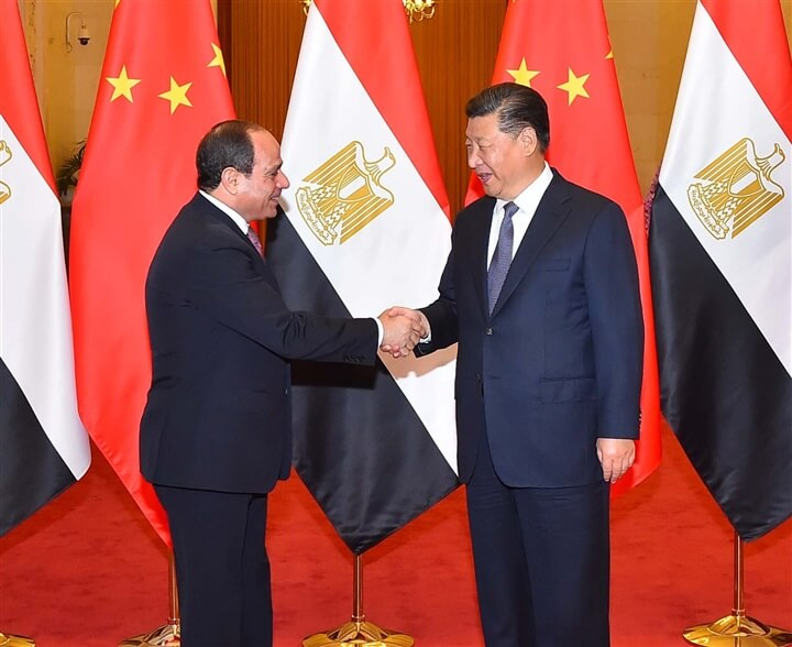 وسائل الإعلام الصينية تبرز المحادثات الموسعة للرئيس السيسى مع نظيره الصينى