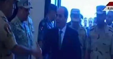 الرئيس السيسى يصل مركز المنارة لحضور الندوة التثقيفية الـ29
