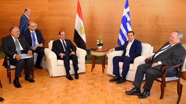 السيسى: القمة مع اليونان وقبرص تمثل حصنا فى مواجهة التحديات