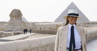 ميلانيا ترامب تشكر الرئيس السيسى وحرمه على حسن الإستقبال خلال زيارتها إلى مصر