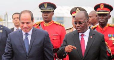 رئيس تنزانيا: علاقتى بالرئيس السيسى متميزة وأتمنى المزيد من التقدم للمصريين