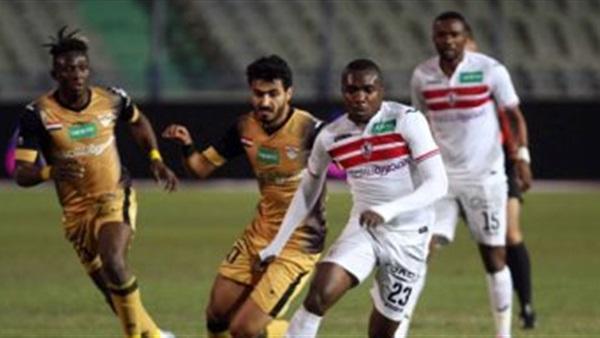 15 دقيقة بدون أهداف في مباراة الزمالك والانتاج الحربي بكأس مصر
