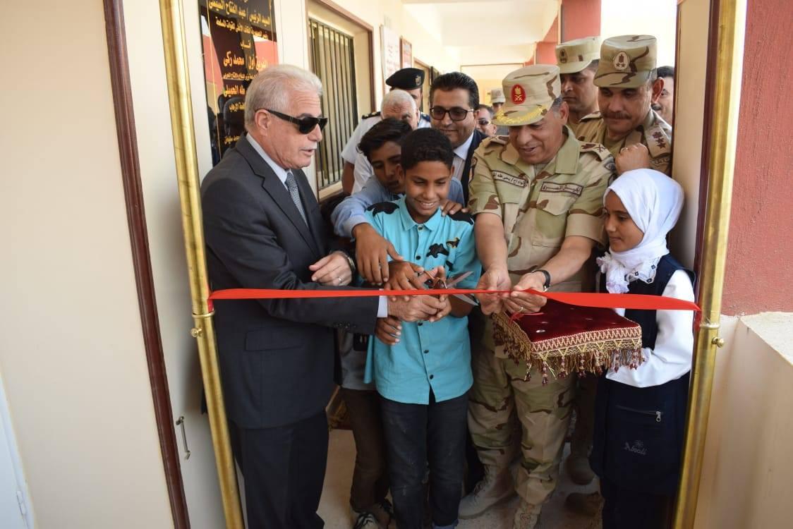 القوات المسلحة تواصل دعم مقومات التنمية الحضارية بسيناء