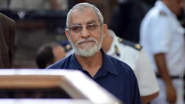 مرشد الجماعة الإرهابية يعلق على خطبة منصة رابعة أمام محكمة جنايات بورسعيد