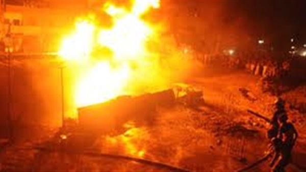 مصرع مهندس وإصابة 3 آخرين في حادث انفجار خزان مواد بترولية بشبرا الخيمة