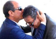 الرئيس السيسى يقبل رأس البطل الشهيد