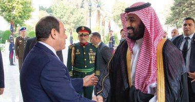 وكالة واس تنشر صور لقاء الرئيس السيسي بولى العهد السعودى فى قصر الاتحادية