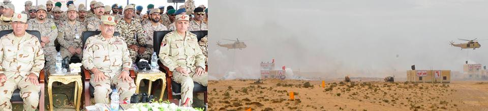 قوات الدول العربية المشاركة في فعاليات التدريب (درع العرب 1) تنفذ عملية مشتركة لإقتحام بؤرة إرهابية مسلحة فى منطقة سكنية وتطهيرها من العناصر الإرهابية