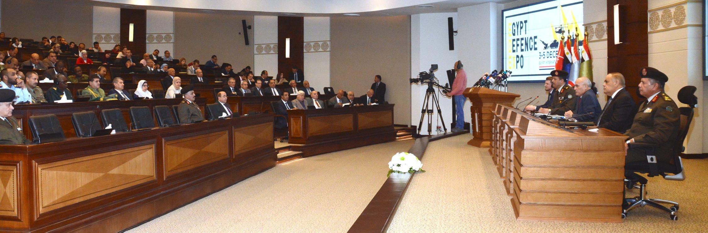 """القوات المسلحة تنظم مؤتمراً صحفياً للإعلان عن كافة التفاصيل الخاصة بالمعرض الدولى الأول للصناعات الدفاعية والعسكرية فى مصر """"إيديكس 2018"""""""