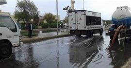 هطول أمطار غزيرة على عدد من المناطق في مطروح