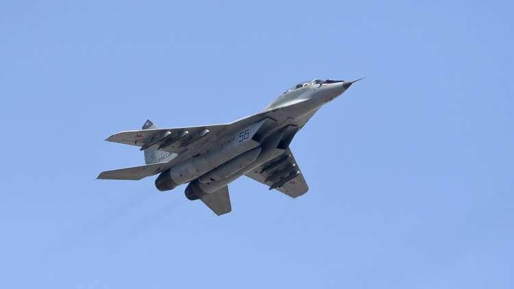 سقوط طائرةتابعة للقوات الجوية المصرية من طراز (ميغ-29) خلال تنفيذها طلعة تدريبية