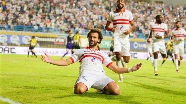محمود علاء يسجل ثالث أهداف الزمالك بمرمى دجلة من ركلة جزاء