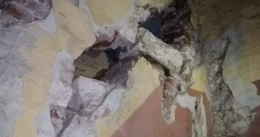 انهيار جزئى بعقار وسط الإسكندرية دون إصابات