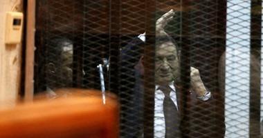 """اليوم.. سماع شهادة """"مبارك"""" فى إعادة محاكمة مرسى بـ""""اقتحام الحدود الشرقية"""""""