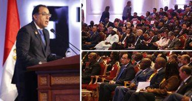 """رئيس الوزراء: مصر تستهدف مضاعفة حجم التجارة مع إفريقيا لـ10 مليار دولار خلال 5 سنوات.. """"مدبولى"""": اتفاقية التجارة الأفريقية الحرة ستدخل حيز التنفيذ فى القريب العاجل.. والاتحاد: تلقينا تصديق 9 دول على الاتفاقية"""