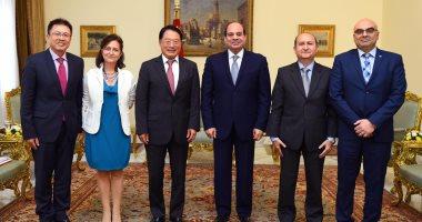 """السيسي يشيد بإدراج """"اليونيدو"""" لمصر ضمن برنامج شراكة الدول التابع للمنظمة"""