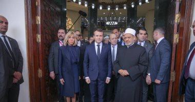 الإمام الأكبر للرئيس الفرنسى: السلام هو رسالة الأزهر لحماية الأرواح