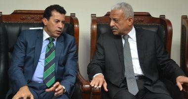 وزير الرياضة: معاينة استادى السويس وبورسعيد لتقيم مدى جاهزيتهما لأمم أفريقيا