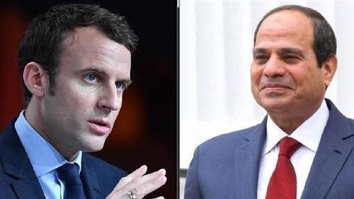 السيسى يؤكد لماكرون فى اتصال هاتفى: موقف مصر ثابت تجاه الأزمة الليبية