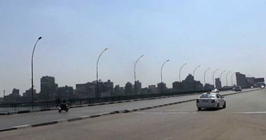 فتح كوبرى عباس أمام حركة السيارات بعد انتهاء أعمال التطوير اتجاه القاهرة