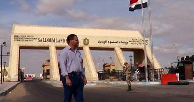 سفر وعودة 1098 مصريا وليبيا و385 شاحنة عبر منفذ السلوم خلال 24 ساعة