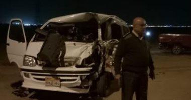إصابة 21 شخصا فى حادث تصادم بالمنيا