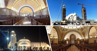 كاتدرائية العاصمة الإدارية تتزين استعدادا لبدء صلوات عيد الميلاد بحضور الرئيس