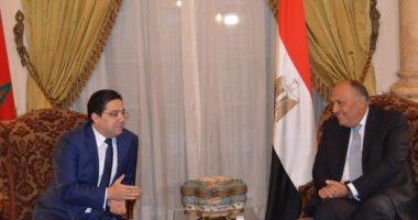 وزيرا خارجية مصر والمغرب يؤكدان أهمية تدعيم آليات التعاون العربي المشترك