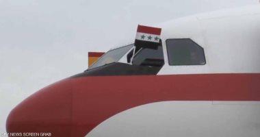 """فيديو .. رفع طائرة ملك إسبانيا لعلم """"حزب البعث"""" يثير موجة غضب فى العراق"""