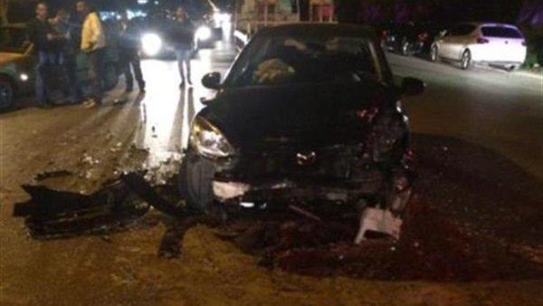انفجار سيارة في حادث تصادم أعلى الطريق الدائري