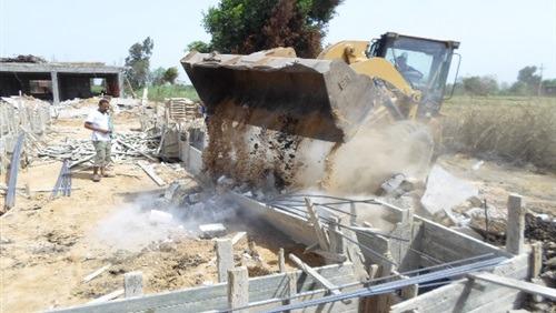 إزالة مباني خشبية وتقسيمات لأراضي الجمعيات في الوادي الجديد