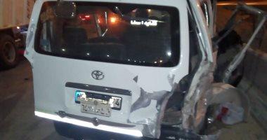 مصرع سائق وإصابة 8 ركاب فى إنقلاب سيارة على صحراوى بنى سويف الشرقى