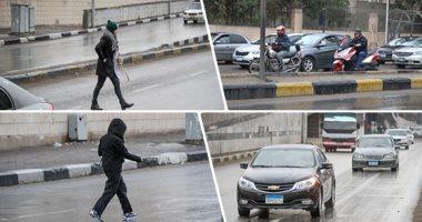 أمطار غزيرة على القاهرة والجيزة ومحافظات الجمهورية والطقس شديد البرودة ليلا