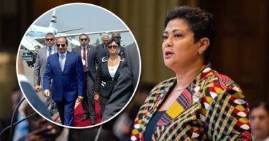 السفيرة نميرة نجم: الرئيس السيسى سيلعب دورا كبيرا فى أجندة الاتحاد الأفريقى