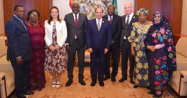 الرئاسة: السيسى استعرض الأحداث الرئيسية على أجندة الاتحاد الأفريقى