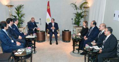 """السيسى يؤكد لرئيس """"بى إم دبليو"""" سعى مصر لتطوير نشاطها بـ""""صناعة السيارات"""""""