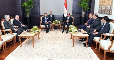 السيسي يناقش مع رئيس وزراء إيطاليا تطوير العلاقات الاقتصادية والتجارية